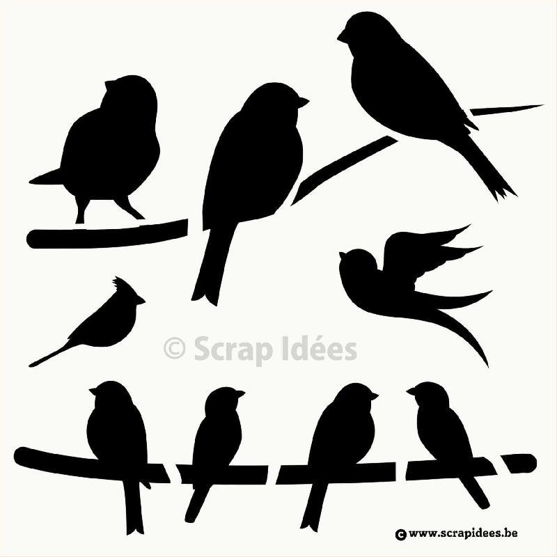 Site de ventes articles de scrapbooking scrap id es for Pochoir oiseau